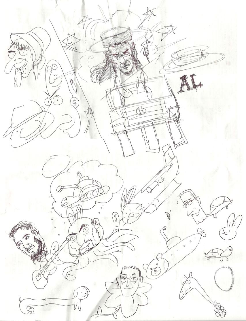 Kat's Korner 011: Rio dinner doodles