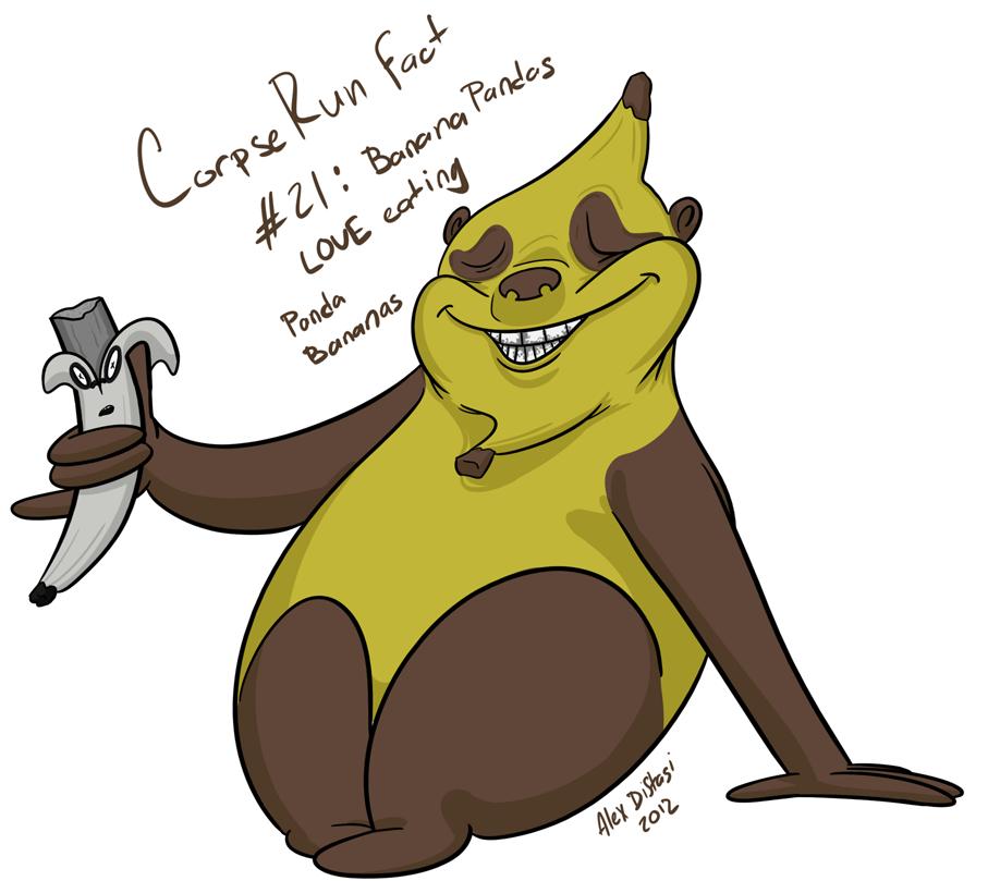 Kat's Korner 095: Banana Panda eating a Panda Banana