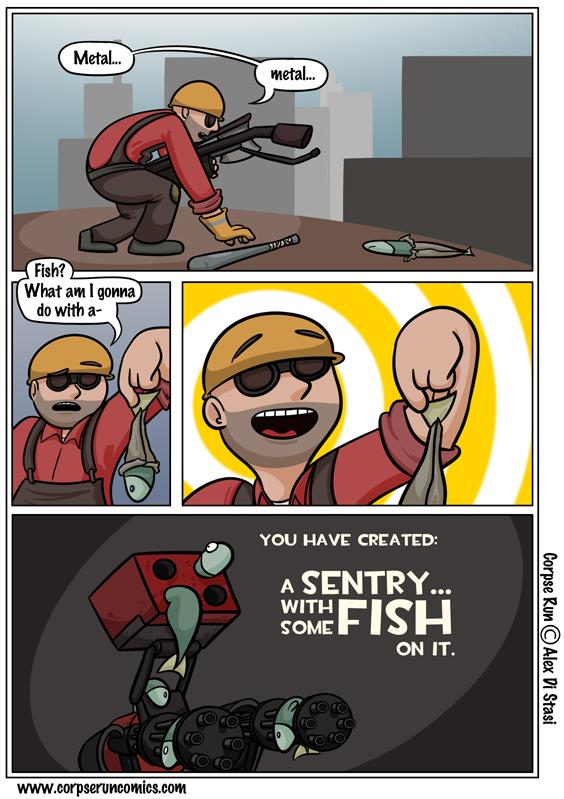 Corpse Run 259: One fish, two fish, gun fish… gun fish