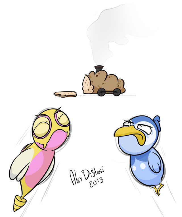 Kat's Korner 210: Pokemon flying competition, bread train prize?