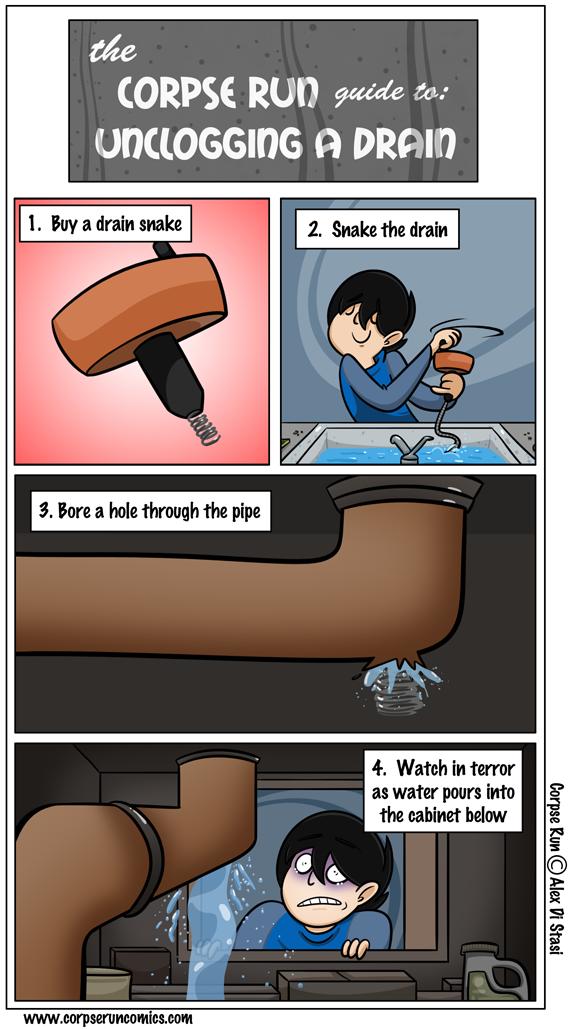 Corpse Run 310: The Corpse Run Guide to Unclogging a Drain