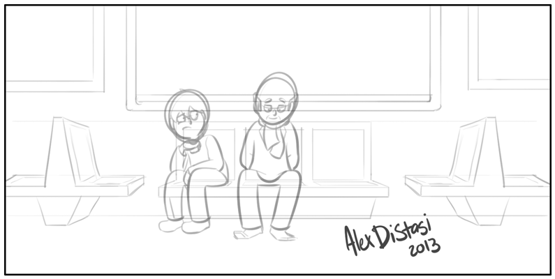 Kat's Korner 312: Subway doodle