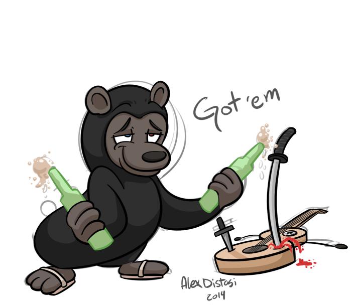 Kat's Korner 353: Double fisting ninja bear